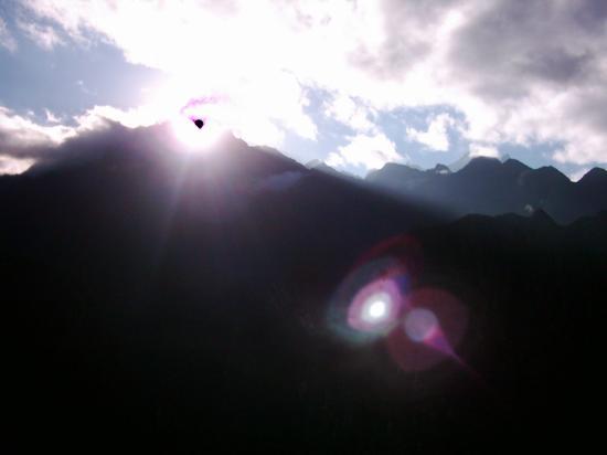 Machu Picchu, Peru: Sunrise over the Andes