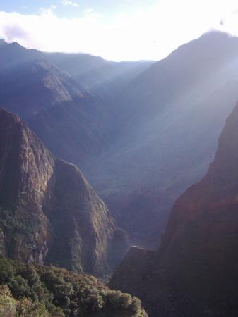 Sunbeams at Machu Picchu