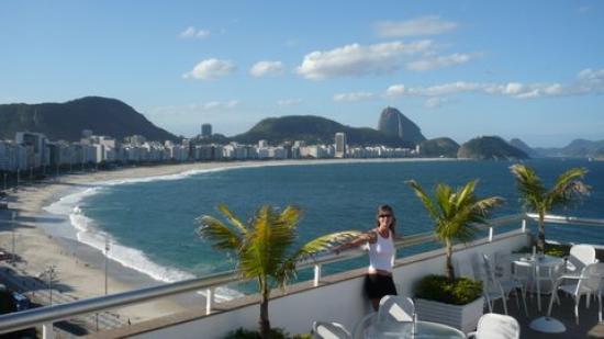Orla Copacabana Hotel: Terraza