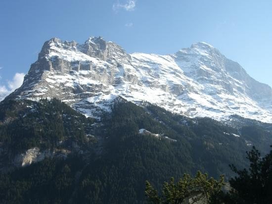 Hotel Spinne: View of Eiger from room