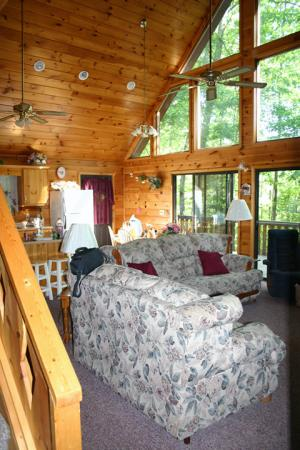 Tanglewood Cabins: Living Room of the Cabin. Loved the Windows!