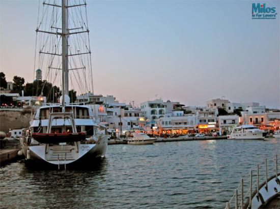 Adamas - Harbor at dusk