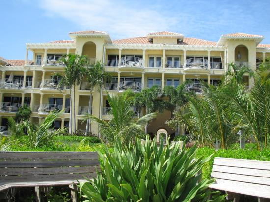 Villa Renaissance: View from the beach of Resort
