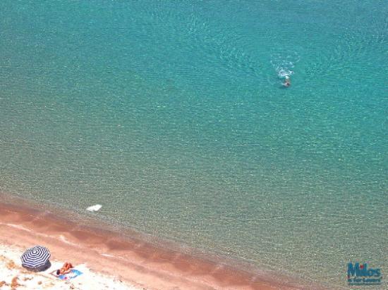 Milos by, Grækenland: Milos - Hivadolimni beach