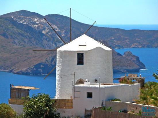Milos by, Grækenland: Milos - Windmill in Tripiti