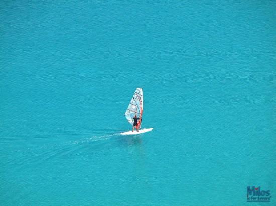 Milos by, Grækenland: Fyropotamos - Windsurfing