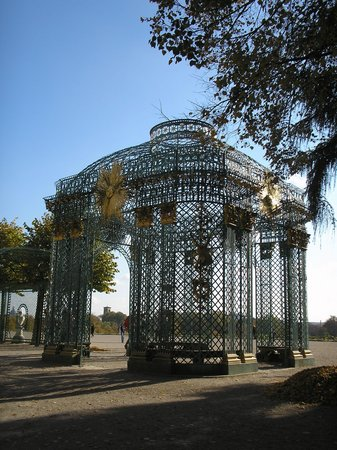 Potsdam, Germany: Outside of Sansouci on side of building