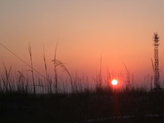 Gulf Gardens Resort: Fort DeSoto sunset