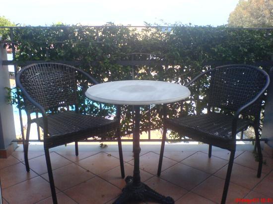 9 Muses Hotel Skala Beach: Balcony