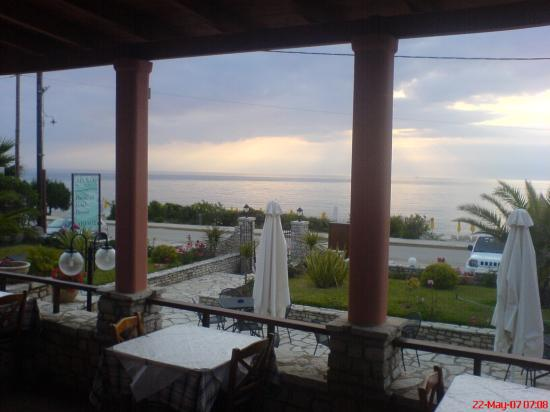 9 Muses Hotel Skala Beach: View from Aeolos