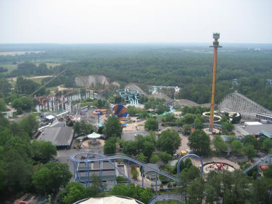 Kings Dominion: view from Effiel Tower-east
