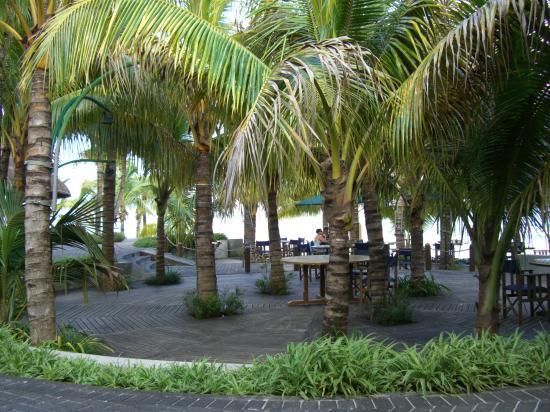 Trou aux Biches Beachcomber Golf Resort & Spa: La terrasse du restaurant