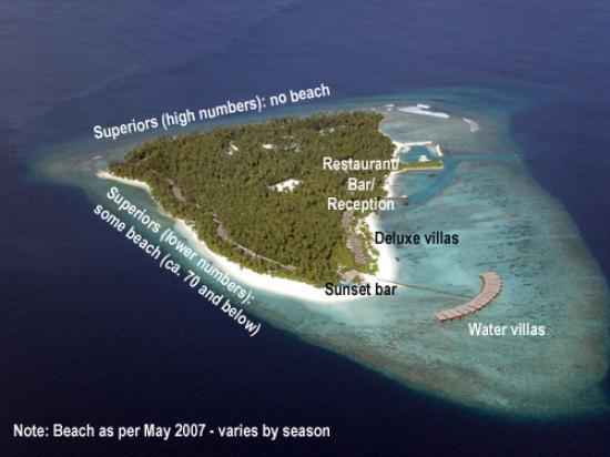 Filitheyo Island Resort: Arial view of Filitheyo