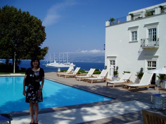 J.K.Place Capri: Picture taken by the pool
