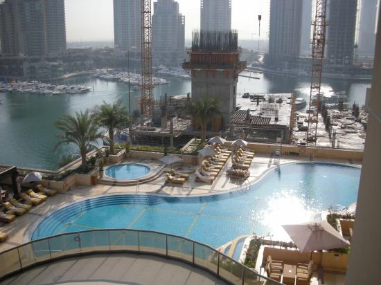 Pool from our balcony picture of grosvenor house dubai - Hotel with swimming pool on balcony ...