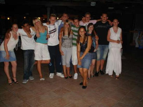 Royal Sunset Beach Club : this is me and some of my friends next to the pool bar at night