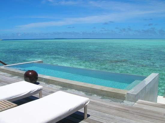 Four Seasons Resort Maldives at Landaa Giraavaru: view from water villa