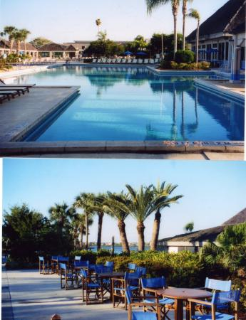 Port Saint Lucie, FL: Pool and Plaza with blue chairs