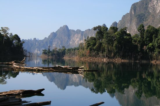 Surat Thani, Thailand: View from raft house