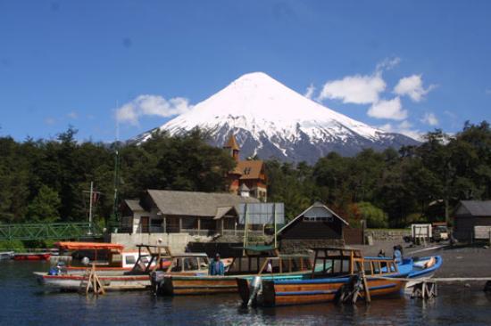 Parque Nacional Vicente Perez Rosales, Chile: Bahia del lago todos los santos en Petrohue sur de chile