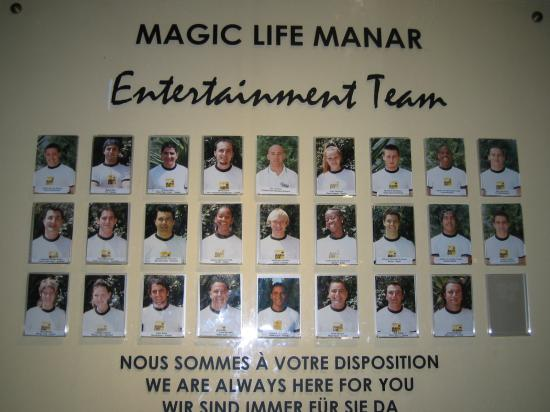 Hotel Manar: l'equipe d'animation ou plutot le clan d'animation