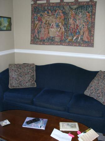 Inn at the Gorge: sofa