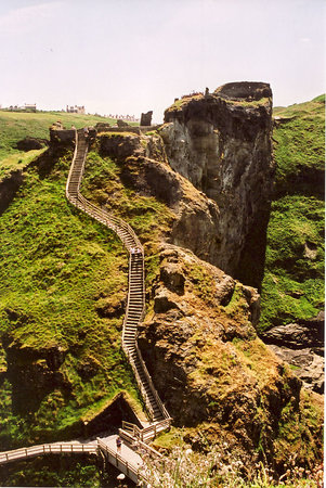 Mainland portion of Tintagel Castle