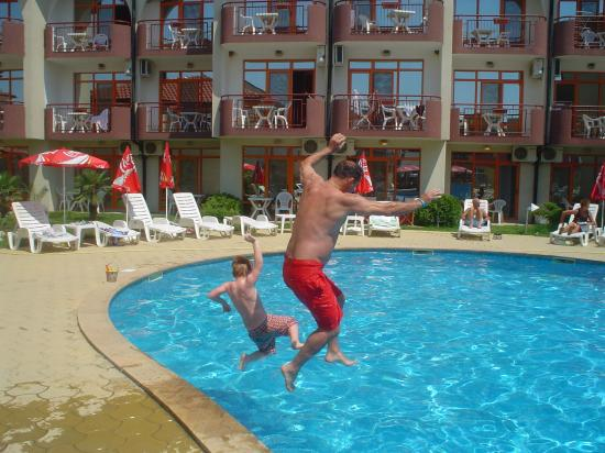 Pool side picture of sunrise club hotel sunny beach - Sunny beach pools ...