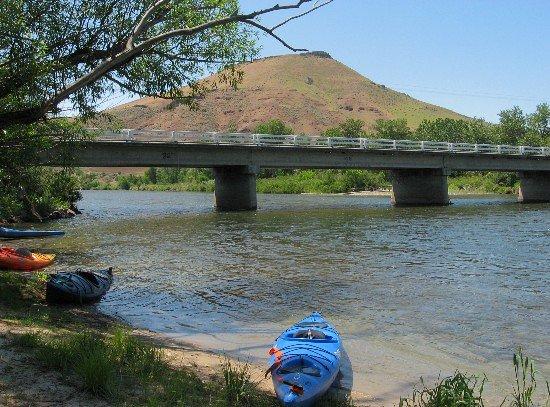 Idaho: Montour Bridge and Regan Butte