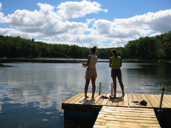 Evart, MI : Fishing on the lake