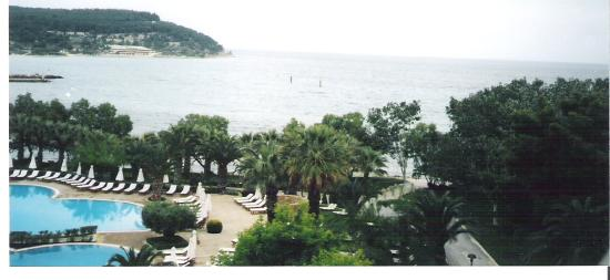 Sani Beach: another view from our balcony
