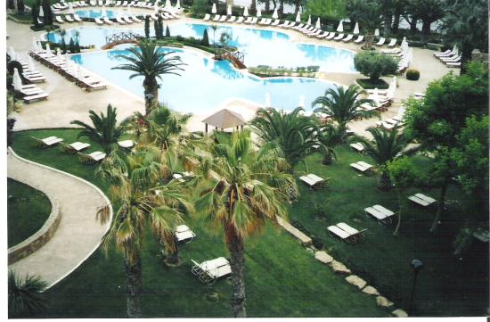 Sani Beach: the pool area