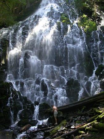 Waterfall At Mt Hood Picture Of Mount Hood Hood River