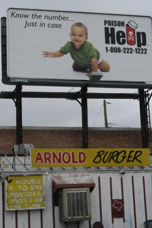 Arnolds Burgers: Read the signs!