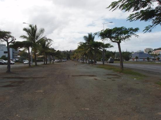 Noumea, New Caledonia: Abandoned bus and industrial area at cruise terminal