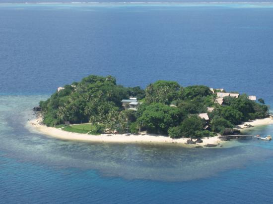 Royal Davui Island Resort: Aerial View from Helicopter