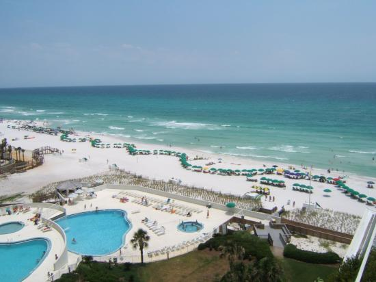 Edgewater Beach Condominium: View of the pools & beach from our deck