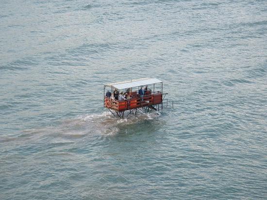 Burgh Island, UK: Sea Tractor