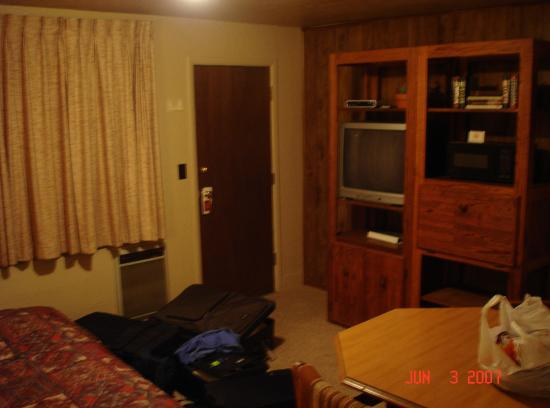 Town-N-Country Cottages: view of tv, table, and microwave