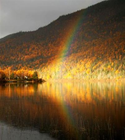 Corner Brook, Canada: Rainbows and The Humber