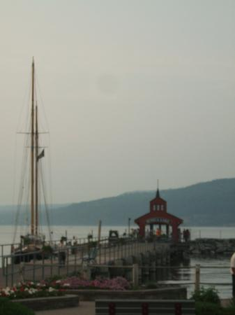 Seneca Harbor Station: View from our table