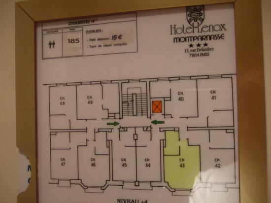 Hotel floor plan picture of lenox montparnasse paris for The lenox floor plan