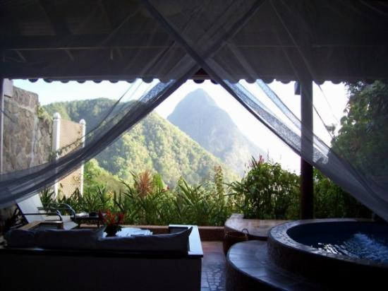 Ladera Resort: View from bed in Room P