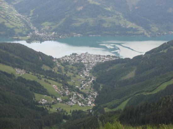 AlpineResort: view of Zell Am See from top of mountain