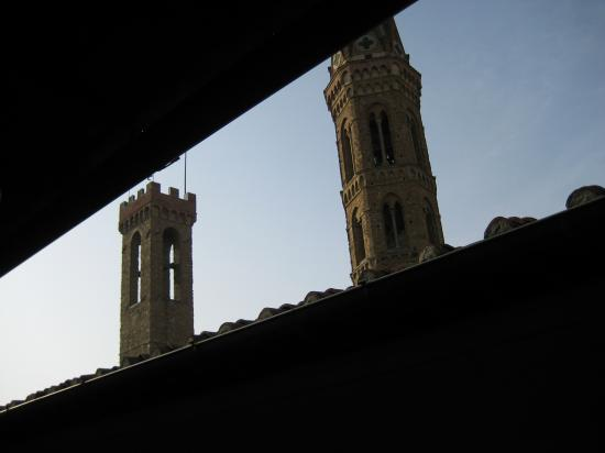 Sani Tourist House: Bargello tower on left from our room.