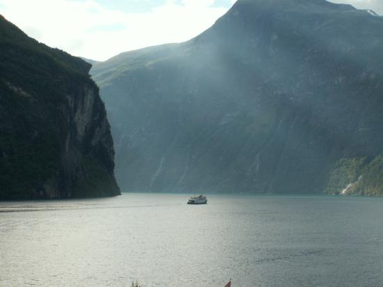 Grande Fjord Hotel: View from the balcony looking West