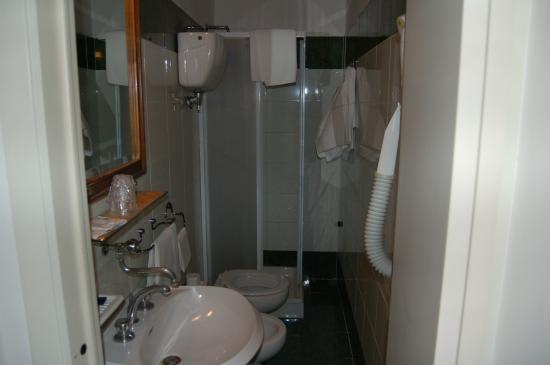 Hotel Antica Torre: Compact bathroom