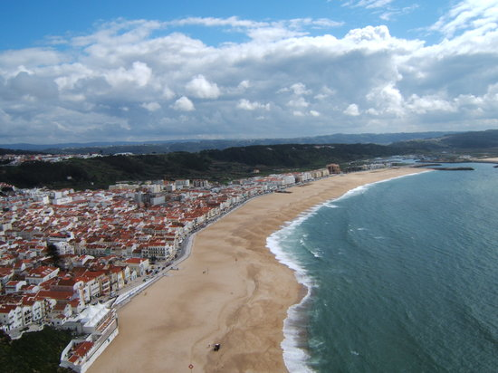 Nazaré, Portugal: view of Nazare from Sitio