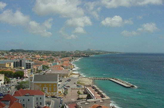 Willemstad, Curacao: View from the penthouse of the Van Der Valk Plaza Hotel