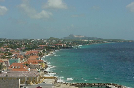 Willemstad, Curazao: View from the penthouse of the Van Der Valk Plaza Hotel